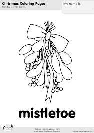 Small Picture Mistletoe Coloring Page Super Simple