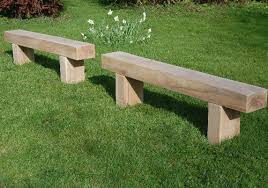 A Lovely Set Of Benches Made From Sleepers That Will Look Great In Outdoor School Benches