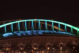 Sumner Wa Bridge Lighting The Seattle Seahawks And Centurylink Field Shine Bright From