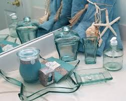 blue glass bathroom accessories. Blue Mosaic Bathroom Accessories Nautical Glass Bath House Of
