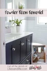 full bathroom remodel complete with gray herringbone floor white subway tile walls and black vanity