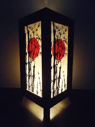 Lamp Shades For Bedrooms Asian Oriental Japanese Bamboo Sunset Zen Art Bedside Floor Table