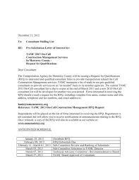 Solicitation Latter Pre Solicitation Letter Of Interest For Transportation