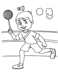 Small Picture Playing badminton coloring page Download Free Playing badminton