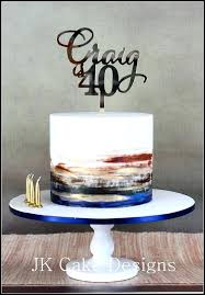 Mans Birthday Cake Watercolour Simple Cake Decorating Ideas For Men
