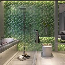 Rhombus Shaped Blue Aluminium Home Decor Irregular Mosaic Tile Aluminium Home Decor
