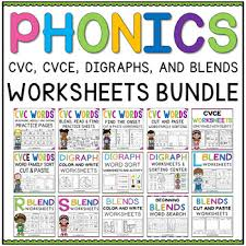 Phonics teaches a student to read by using the sounds of the letters in a word. Phonics Worksheets For First Grade Teachers Pay Teachers
