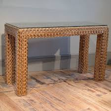 rattan console table. Top Rattan Console Table L