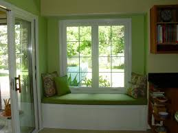 kitchen: Refreshing Green Nuance Contemporary Sitting Space Decorated With  Modern Kitchen Window Designs Decorated With