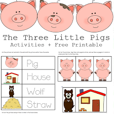 Ever wondered at the sheet beauty of a deer lazing away in a cool evening, with the dominance of the limitless nature providing the perfect backdrop! The 3 Little Pigs Activities Free Printables