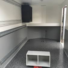 enclosed trailer flooring ideas. The Floor Is OEM Plywood, But With An Epoxy Coating (I Have Flooring Business). Pretty Awesome For Keeping It Clean. Enclosed Trailer Ideas L