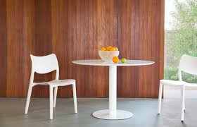 zeroo table and laclasica chair in all white