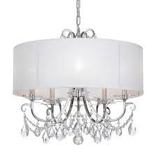 crystorama othello 5 light clear swarovski strass crystal polished chrome chandelier