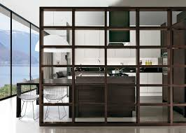 Kitchen Divider Contemporary Kitchen Wood Veneer Island Lux Castagna