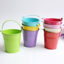 Tin Colored Tin Buckets, Size: 3 Inch- 7 Inch