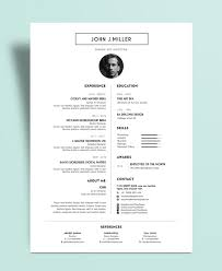simple minimal layout resume cv design template psd file
