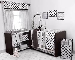 dots pin stripes black white 10 pc crib