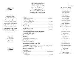 Free Printable Wedding Programs Templates Wedding Program Sample
