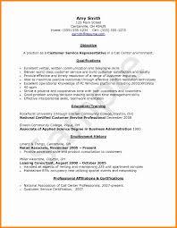 Outstanding Sample Resume Client Service Representative Model