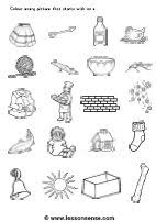 1 worksheet focuses on beginning sounds, where students identify objects that start with letter s and color them in. Phonics Worksheets And Downloads Lessonsense Com