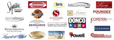 furniture brands. all american furniture and mattress name brands
