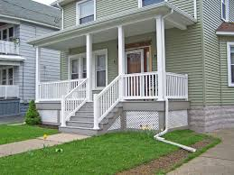 ... Heavenly Images Of Beautifully Decorated Front Porch Design Ideas :  Simple And Neat Picture Of White ...