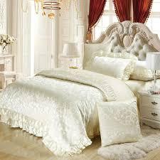 silk luxury bedding. Delighful Luxury Silk Satin Cotton Blend Luxury Bedding Set King Queen Duvet Cover Sets  Wedding White Bedspreads Masculine Southwestern From Beijiguang719  And Silk