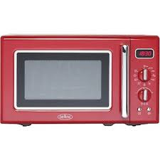 belling fmr2080s 20l 800w retro design freestanding microwave in red 444444308