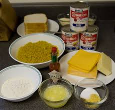 the rest of the ings needed are 5 tbs 45 g all purpose flour 1 lb 450 g elbow macaroni 3 12 oz cans 1 l evaporated milk 5 oz