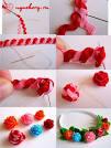 Как сделать простые розы из атласных лент