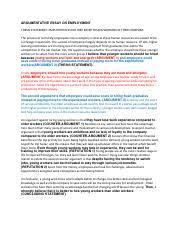 argumentative essay on employment argumentative essay on 1 pages argumentative essay on employment edited new