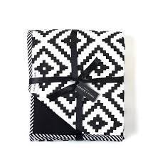 aztec crib quilt black and white baby