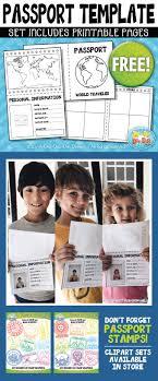 Passport Booklet Template Free Passport Booklet Template Bundle Zip A Dee Doo Dah Designs