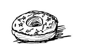 how to draw cartoon donut
