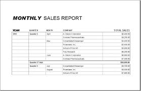 Sample Report Template For Business Monthly Sales Report Template And Table Sample For Your Business