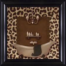 ptm images 15 1 4 in x 15 1 4 in on wall art prints for bathroom with ptm images 15 1 4 in x 15 1 4 in leopard bath a framed wall art