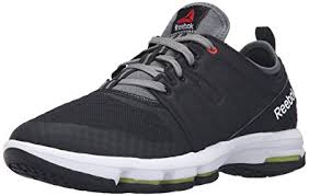 reebok shoes for men. reebok men\u0027s cloudride dmx walking shoe, black/alloy/riot red/white, shoes for men l
