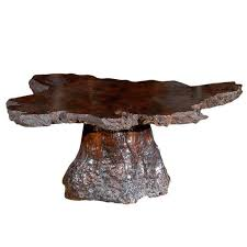 american vintage cypress wood coffee table for