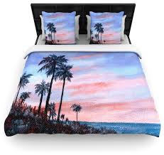 rosie brown florida sunset palm tree duvet cover contemporary duvet covers and duvet sets by kess global inc