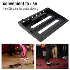 black alloy pedalboards electric guitar effects pedal board with hook loop kit