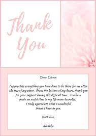 Thank You Note After Funeral To Coworkers Thank You Memorial Cards Karobarnow