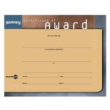 Awana Certificate Of Award Journey Certificate Of Award Awana Canada