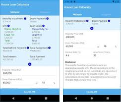 calculator house loan house loan calculator malaysia singapore apk download
