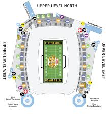 Heinz Field Virtual Seating Chart Heinz Field Seating Charts And Stadium Diagrams