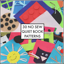 30 easy no sew quiet book patterns from and next es l