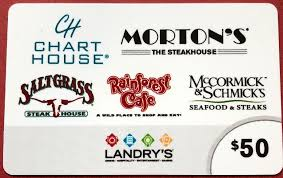 50 landry s gift card saltgr morton s steakhouse rainforest cafe mccormik