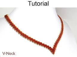 Beaded Necklace Patterns New Beading Tutorial Necklace Diagonal Peyote Sitch Simple Bead
