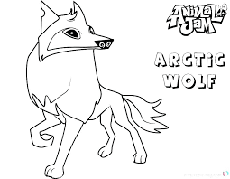 Coloring Pages Arctic Fox Coloring Page Pages Animal Jam Arctic