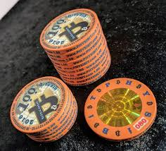 Why bitcoin and online poker sites are a perfect match. 1 00btc Physibit Poker Chip 2016