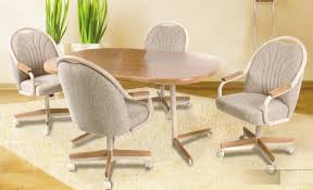 unbelievable design dining room chairs on wheels 7